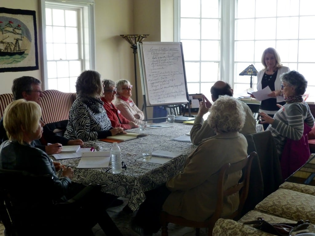 Workshop in the Great Room at Thinkers Lodge